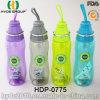 Bottiglia di acqua di plastica popolare recentemente portatile (HDP-0775)