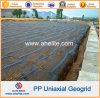 Plástico de alta resistencia PP Geogrids uniaxial los 80kn/M