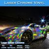 Abrigo de plata estirable del vinilo del coche del laser del cromo del color de Carlike