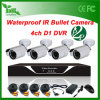 4CH 800tvl Waterproof Outdoor Bullet CCTV Kits HD CCTV Kits