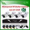 4CH 800tvl Waterproof jogos ao ar livre do CCTV dos jogos HD do CCTV da bala