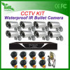 1200tvl 8CH CCTVKits Outdoor Bullet CCTV System