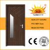 Porte en bois de PVC avec le verre (SC-P093)