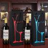 Подарка красного вина фабрики горячий штемпелюя мешок черного бумажного одиночного упаковывая бумажный