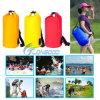 Sports en plein air faisant un cycle la hausse campante de sac à dos d'épaules de sacs imperméables à l'eau unisexes pliables de PVC de sacs à dos/sac de s'élever/natation
