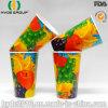 taza de papel de la bebida fría revestida doble del PE 12oz para el jugo