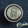 Tecla feita sob encomenda do metal do desgaste das calças de brim do logotipo do projeto elegante