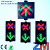 O sinal de controle da pista do diodo emissor de luz da cruz vermelha & da seta verde/batente de piscamento & vai sinal