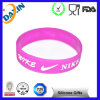 Marchio Debossed o Embossed Promotion Silicon Wristband