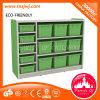 Caja de almacenaje plástica de los muebles del dormitorio de los cabritos