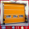 Puerta industrial automática del balanceo de la tela del PVC (YQRD0045)