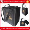 Подгонянная Tote черноты ткани конструкции хозяйственная сумка Non-Woven складная