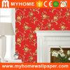 Papier de mur décoratif à la maison de la fleur 2016 en rouge et blanc