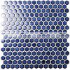 mosaico de cerámica de la piscina azul marino hexagonal de 19m m (BCZ606)
