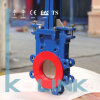 Cialda Type Knife Gate Valve con Polyurethane Deflection Cone