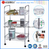 Justierbares Chrome Metal Kitchen Basket Trolley mit Wheels