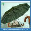 2 складывая Auto Open Wooden Handle Umbrella для Men