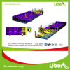Trampoline comercial grande seguro da alta qualidade roxa para o parque interno do Trampoline dos adultos