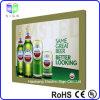 Frameless 아크릴 장 수정같은 가벼운 상자를 가진 전시를 광고하는 자석 맥주 표시