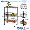 Многофункциональная утварь кухни металла черноты 3 слоев/Vegetable шкаф