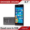 Android 4.2.9 Mtk6582, Cortex A7 Quad Core, 1.3GHz; 4.7 мобильный телефон Doogee Dg350 дюйма