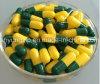 La píldora vacía del tamaño 0 encapsula dos diversos colores unidos y separó disponible