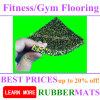 Deportes de goma del material de los gránulos de los azulejos de suelo del centro de la gimnasia de la aptitud