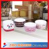 Tazón de fuente del Ramekin de las mercancías de porcelana con la impresión