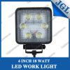 4  entraîneur carré de la lumière ATV de lampe de travail de 18W 4X4 DEL