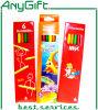 6 PCS ensemble de crayon de couleur de 7 pouces