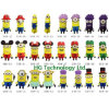 2014 Moda flash USB de dibujos animados lindo para memoria USB Regalo Despicable Me Pen (HBU-123)
