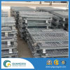 Gaiola de armazenamento de aço dobrável com perna forte no tipo de elevação