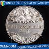 高品質は真鍮の銀によってめっきされる挑戦金属の記念品の硬貨を停止する