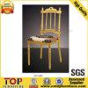 Chaise fixe de Napoleon de coussin d'aluminium d'or de couronne