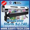 Epson Dx7 Head、1.8/3.2m Sizeの旗Printer -- Sinocolor Sj-740