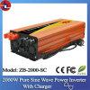2000W 12V gelijkstroom To110/220V AC Pure Sine Wave Power Inverter met Charger