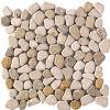 Il ciottolo Cobbles il mosaico di marmo di pietra (T 1294)