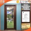Puerta de madera del patio con revestimiento de aluminio exterior en China