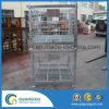 Envases amontonables industriales del acoplamiento de alambre del almacenaje en tipo de la caída