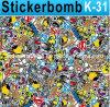 Bello Sticker Bomb per Car Full Body Wrapping 1.52X30m