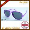 Les lunettes de soleil pourpres nobles d'armature en métal pour les enfants (FK15011)