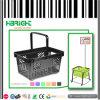 Plastic noir Shopping Basket pour Supermarket