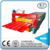 冷たい鋼鉄機械を形作る台形金属の屋根シートロール