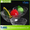 Cristal - salada desobstruída Bowl de Glass dos lótus Shape (15031301)
