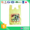 Supermercado usado personalizado impreso camisa de plástico bolsa