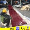 RAL9005ワインレッドの塗られた波形の屋根ふきシートの工場