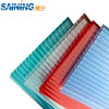 8m m Clear Polycarbonate Anti-Drop Hollow Sheet para Greenhouse Roofing Use