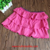 100% Cotton Pure Color Tiered Skirt for Girl's