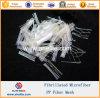 Fibras sintetizadas micro Microfiber de la fibra del acoplamiento de los PP fibrilado