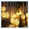 Chaîne de caractères romantique d'éclairages LED de lustres de Noël et de mariage de décorations de bille solaire de Sepak Takraw